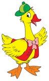 Celebratory goose (vector). Vector clip-art / children's illustration for yours design Royalty Free Stock Image