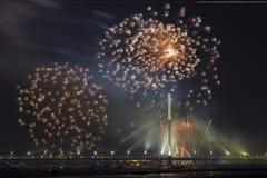 Celebratory honnör i Riga Arkivfoto