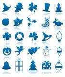 Celebratory icons Stock Photos