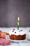 Celebratory kaka med kräm Arkivfoto