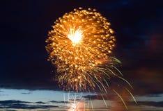 Celebratory new year firework royalty free stock image