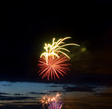 Celebratory new year firework Stock Photography