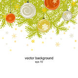 Celebratory New Year's background. With snowflakes. A vector Royalty Free Stock Images