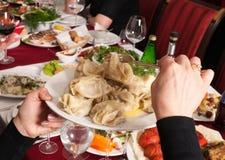 Celebratory party. Manti. Stock Photo
