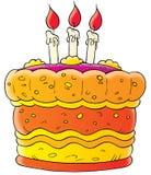 Celebratory pie. Isolated clip-art and children's illustration for yours design, postcard, album, cover, scrapbook, etc Stock Image