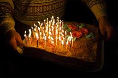 Celebratory pie Stock Photos