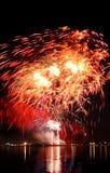 Celebratory red firework Royalty Free Stock Photos