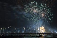 Celebratory salute in Riga Royalty Free Stock Photo