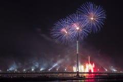 Celebratory salute in Riga Royalty Free Stock Photos