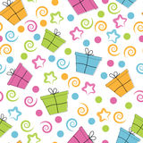 Celebratory seamless pattern Royalty Free Stock Photos