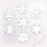 celebratory snowflakes för juldesignillustration Arkivbilder