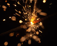 Celebratory sparks Royalty Free Stock Photography