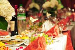 Celebratory table stock photography