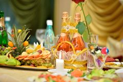 Celebratory table Royalty Free Stock Photo