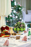 The celebratory table. Decorated by fruit Royalty Free Stock Photos