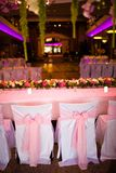 Celebratory tables in the banquet hall Royalty Free Stock Photo