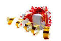 Celebratory tapes, gift Royalty Free Stock Photography