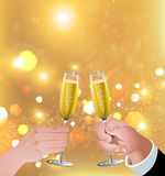 Celebratory toast stock images