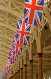 Celebratory Union Flags Stock Images