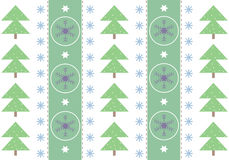 Celebratory winter card. Celebratory card with snowflakes and a fur-tree Stock Photography
