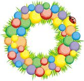 Celebratory wreath on a door-2 Stock Images