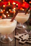 Celebrazione casalinga tradizionale dei christmass dello zabaione Fotografie Stock