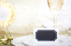 Celebrazione Champagne Meal Background Fotografia Stock Libera da Diritti