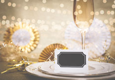 Celebrazione Champagne Meal Background Immagini Stock Libere da Diritti