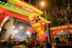 Celebrazione cinese del nuovo anno a Calcutta Immagine Stock Libera da Diritti