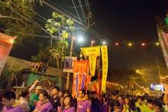 Celebrazione cinese del nuovo anno a Calcutta Immagini Stock Libere da Diritti