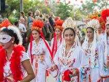 Celebrazione cinese del nuovo anno in Tailandia Fotografia Stock