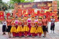 Celebrazione cinese del nuovo anno in Tailandia Fotografie Stock