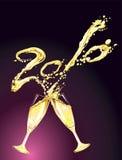 Celebrazione con champagne Fotografia Stock
