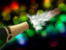 Celebrazione con champagne sul partito Fotografia Stock Libera da Diritti