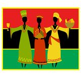 Celebrazione culturale di Kwanzaa Fotografie Stock Libere da Diritti