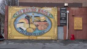Celebrazione dei 75 anni, Di Bruno Bros La casa di formaggio, mercato italiano della nona via storica, Filadelfia Fotografie Stock Libere da Diritti