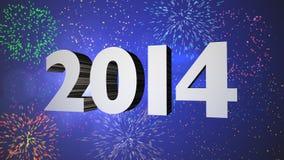 Celebrazione 2014 dei fuochi d'artificio Immagine Stock