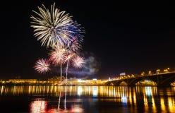 Celebrazione dei fuochi d'artificio Fotografia Stock