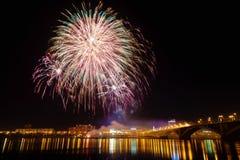 Celebrazione dei fuochi d'artificio Fotografie Stock Libere da Diritti