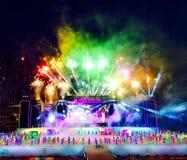 Celebrazione dei fuochi d'artificio Fotografia Stock Libera da Diritti