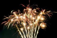 Celebrazione dei fuochi d'artificio Immagini Stock Libere da Diritti