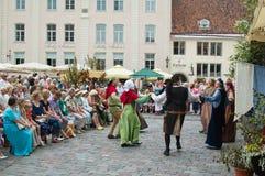 Celebrazione dei giorni i Medio Evo a Tallinn Fotografie Stock