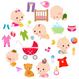 Celebrazione del bambino royalty illustrazione gratis