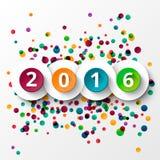 Celebrazione 2016 del buon anno Immagini Stock Libere da Diritti
