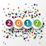 Celebrazione 2017 del buon anno Illustrazione Vettoriale