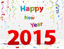 Celebrazione del buon anno con i coriandoli Fotografia Stock