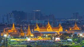 Celebrazione del compleanno (festa del papà), re della Tailandia Fotografia Stock Libera da Diritti