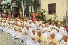 Celebrazione del debuttante buddista fotografia stock