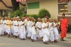 Celebrazione del debuttante buddista fotografie stock