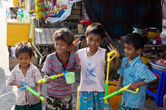 Celebrazione del festival 2012 dell'acqua in Myanmar Fotografia Stock
